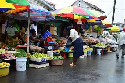 Market Business Bourda Along Street Customer Vendors