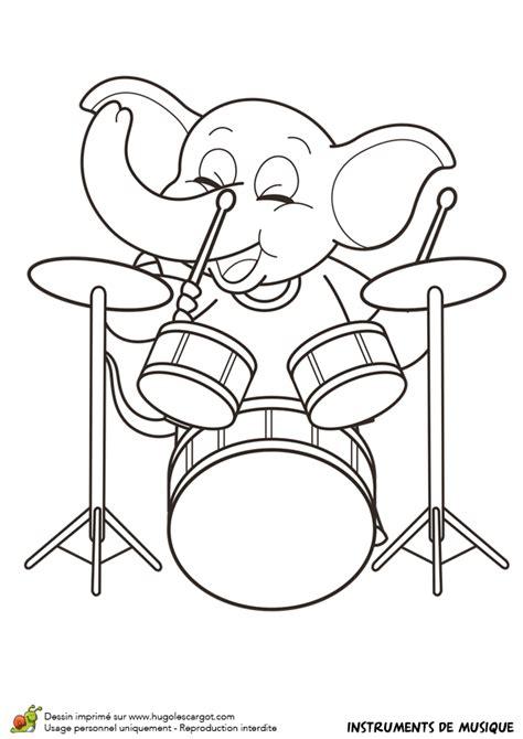 batterie de cuisine the rock dessin à colorier d un instrument de musique la batterie