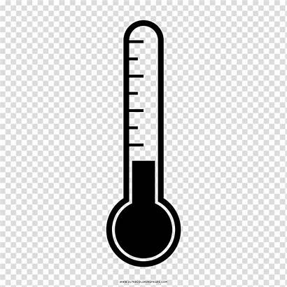 Thermometer Drawing Coloring Clipart Sketch Digital Background