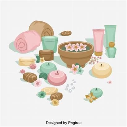 Spa Cartoon Simple Care Element Psd Elements
