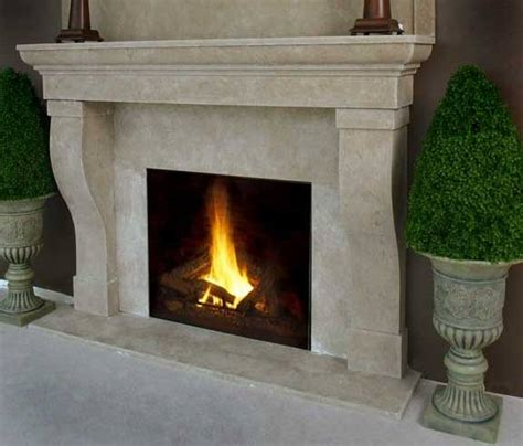 faux river stone fireplace mantel  custom fireplace