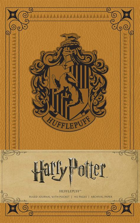 harry potter hufflepuff hardcover ruled journal book