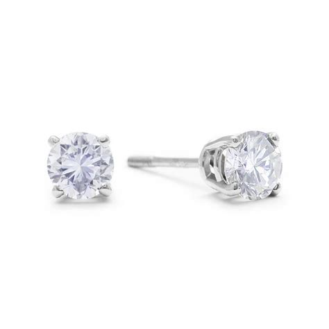 visibly imperfect  carat diamond stud earrings