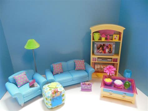 barbie doll living room furniture set with accessories ebay