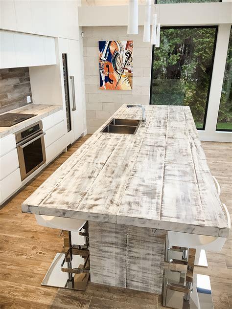 table cuisine bois blanc comptoir de cuisine espace bois