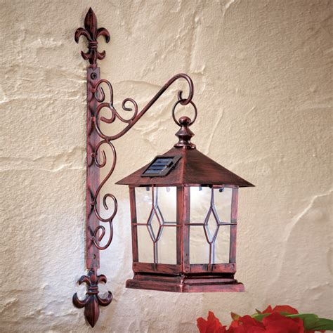 Decorative Wall Lanterns - decorative coach style solar powered lighted wall lantern