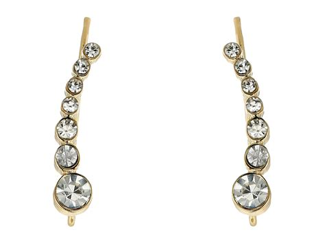 lyst guess mini stone ear crawler earrings  metallic