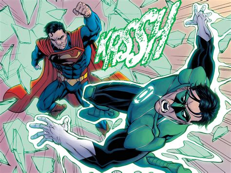 superman vs green lantern hal comicnewbies
