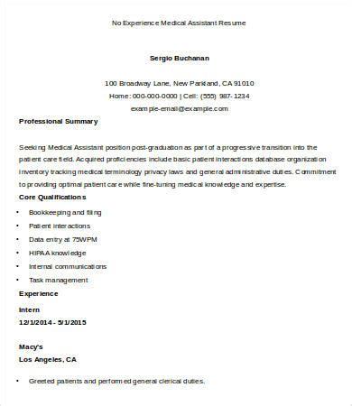 sample medical assistant resume   sample