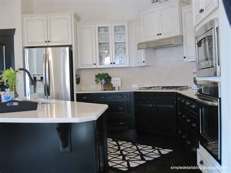 kitchen lower cabinets white simple details builder beige to black 9319