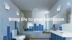 Home Netwerks Bluetooth Bath Fan With Led Light