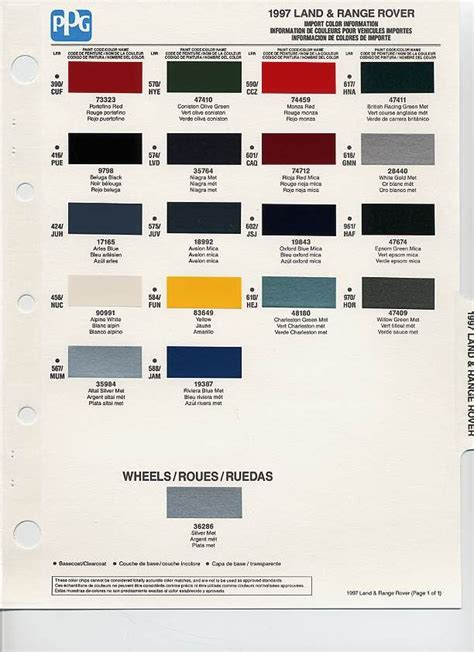land rover paint colour codes 1997 landrover color code landrover land