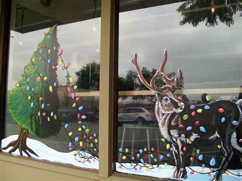 christmas window painting ideas