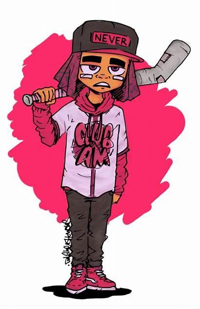 Uzi Lil Vert Cartoon Drawing Blake Manga