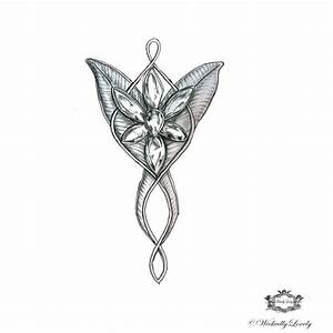 Evenstar Arwen's necklace Lord of the Rings by WickedlyLovelyArt