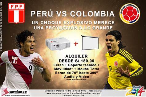Este partido se juega el día 20 de junio a las 21:00 horas de argentina y 19:00 horas colombia, ecuador y perú. SOROBAN NEWS: PERU VS COLOMBIA - ¡Proyección a lo GRANDE!
