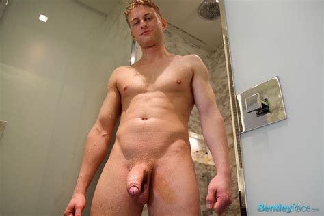 Blonde Swedish Hunk Jerking His Huge Uncut Cock In The