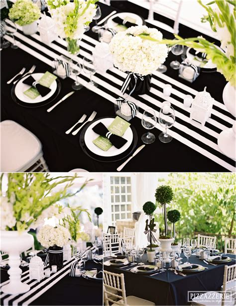 my black and white striped wedding pizzazzerie