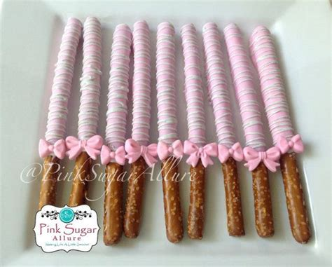 baby shower pretzels 25 best ideas about chocolate covered pretzel rods on