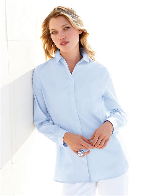 blouse lightclo hahn blouse light blue