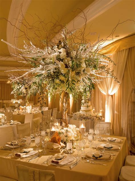 Reception Décor Photos Tall Winter Wedding Flower