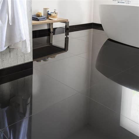 carrelage cuisine noir carrelage sol et mur noir effet uni l 60 x l 60 cm