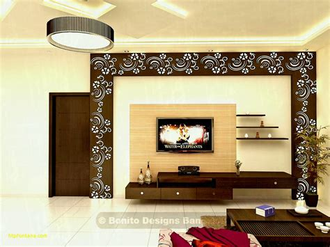 Interior Design For Lcd Tv In Living Room Led Wooden Wall