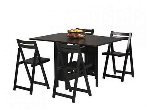 Black Dining Table With Chairs, Folding Dining Table And
