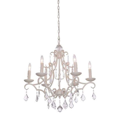 vintage white chandelier filament design vieira 6 light antique white chandelier 3267