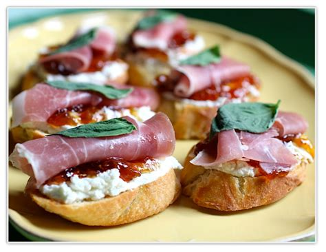canape toppings the dish posts crostini with prosciutto goat