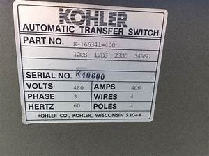 Kohler 400 Amp 480v Automatic Transfer Switch K40600