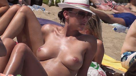 Amazing Brunette Topless Beach Porn Photo EPORNER