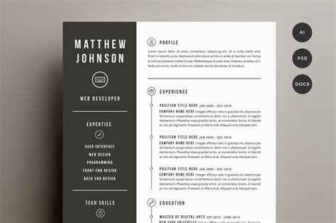 creative resume cover letter templates resume cover letter template resume templates on creative market