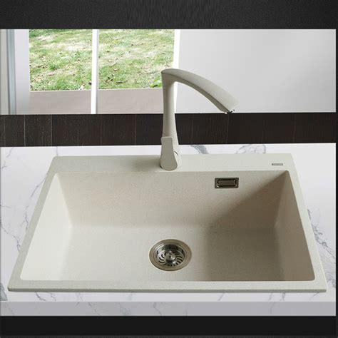 granite single bowl kitchen sink 650 450 200mm quartz kitchen sink granite single 6892