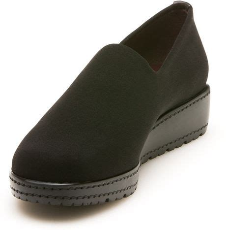 stuart weitzman sofa loafer stuart weitzman the sofa loafer in black black micro lyst