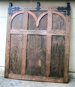 Hand made medieval interior barn door by rocky mountain for Custom made interior barn doors