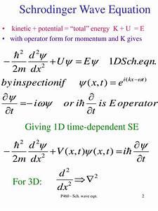 PPT - Schrodinger Wave Equation PowerPoint Presentation ...