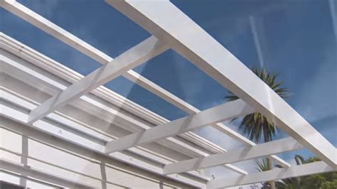 build  pergola attached   house mitre  easy  youtube