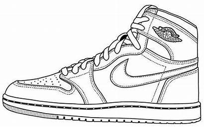 Jordan Coloring Shoes Pages Air Sneakers Jordans