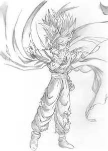 draw dragon ball z gohan super saiyan 2 teen gohan by the saiyan gohan - Super Saiyan Gohan Coloring Pages