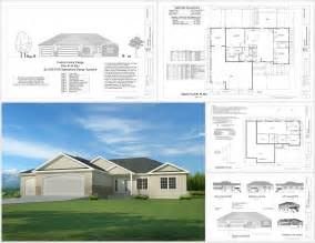 free house blueprints and plans this weeks free house plan h194 1668 sq ft 3 bdm 2 bath garage apartment plans