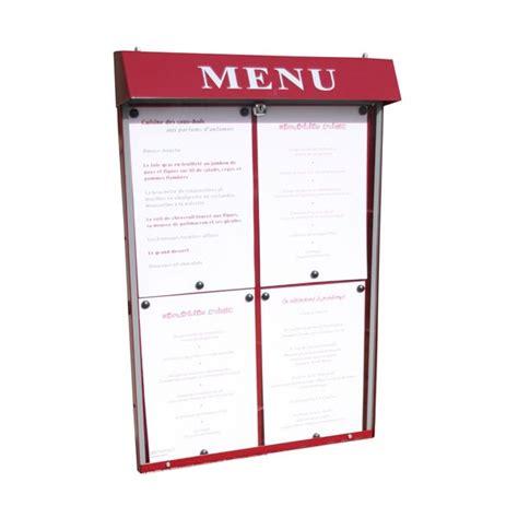porte menu lumineux exterieur porte menu club 4 pgs mural n lumineux jurine