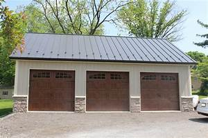 beautiful 3 bay garage pole building home sweet home With 3 bay pole barn