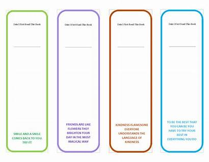 Bookmark Template Printable Bookmarks Templates Quotes Motivational