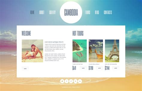 tourism landing page templates travel agency website template 44965