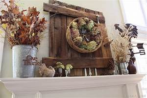 Fall Mantel Ideas {autumn mantle} - Home Stories A to Z