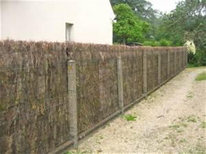 Poser Un Grillage Sans Ciment : brande de bruy re une cl ture naturelle au jardin ~ Dailycaller-alerts.com Idées de Décoration