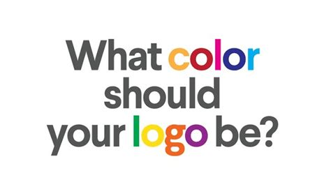 What Color Should Your Logo Be? #infographic Visualistan