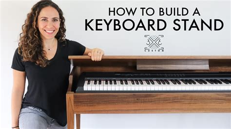 building  keyboard stand woodworking diy project