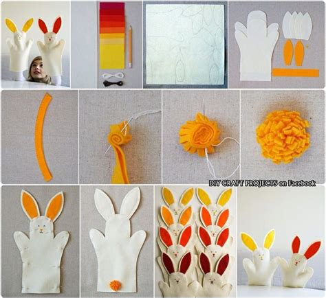 bunny hand puppets in diy craft projects on fb diy